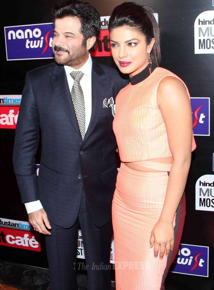 Priyanka and Anil Kapoor get together for a pic! (Photo: Varinder Chawla)