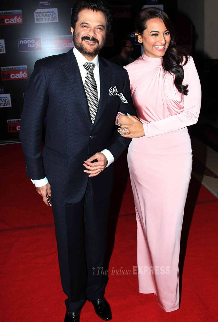 Prim and proppa – Sonakshi and Anil Kapoor. (Photo: Varinder Chawla)
