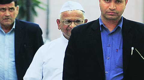 Anna Hazare in Delhi, Thursday. Anil Sharma
