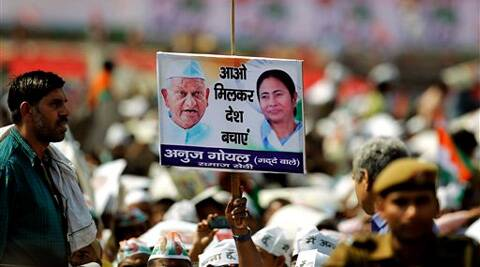Anna registered a no show at Mamata's Delhi rally. (AP)