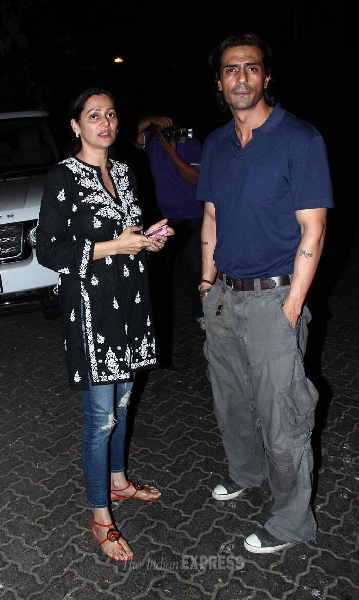Arjun Rampal snapped outside the nightspot with a friend. (Photo: Varinder Chawla)