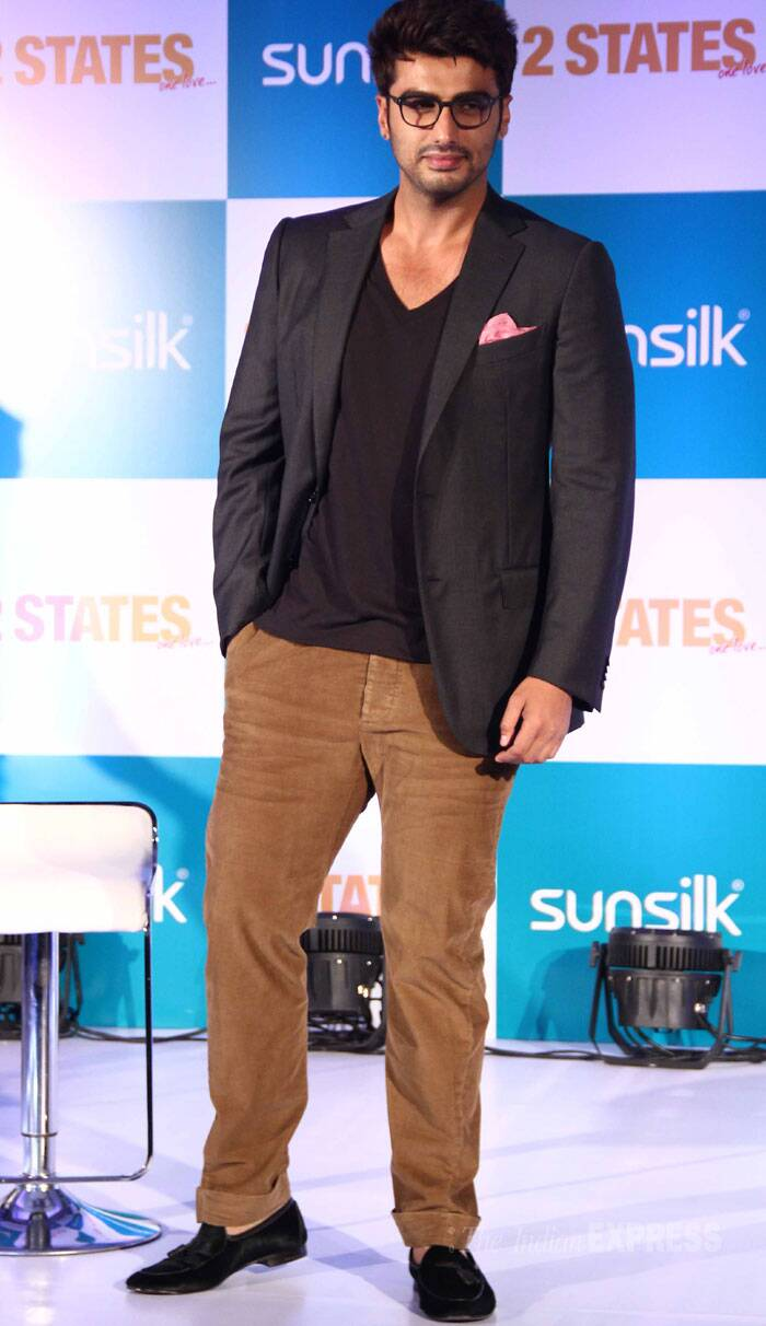 Arjun Kapoor, who will be playing the part of a Punjabi boy in love with a girl from the South, was smart in a blazer and pants. (Photo: Varinder Chawla)