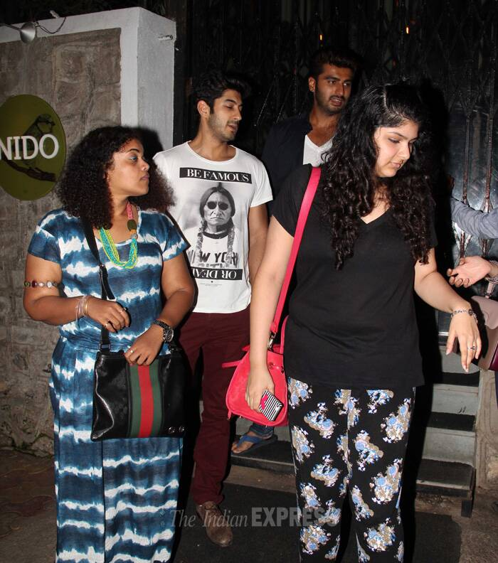 Arjun's sister Anshula also joined the boys on their night out. (Photo: Varinder Chawla)