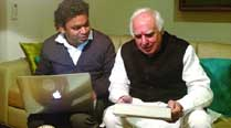 A. R. Rahman with Kapil Sibal, Minister of Communications and Information Technology