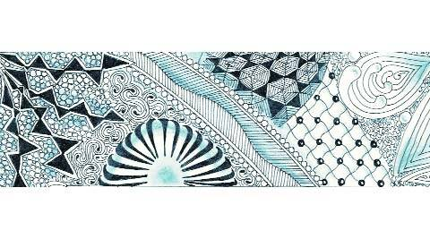An example of Zentangle artwork.