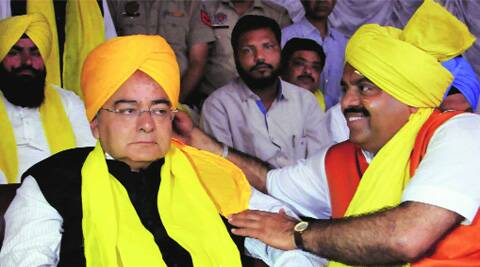 Arun Jaitley at an event to mark the martyrdom of Bhagat Singh, in Amritsar Sunday. (PTI)