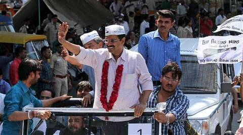Without his signature scarf and cap, Arvind Kejriwal is hardly known in Gujarat. (PTI)