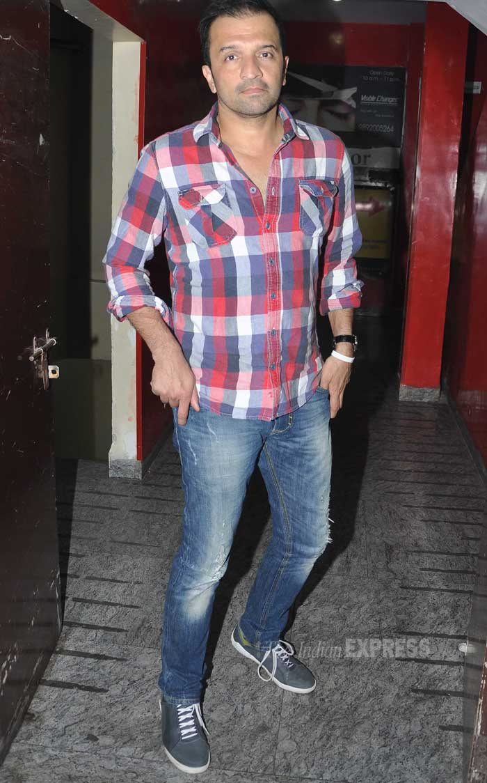 Fashion photographer Atul Kasabekar was casual in a checked shirt and denims. (Photo: Varinder Chawla)