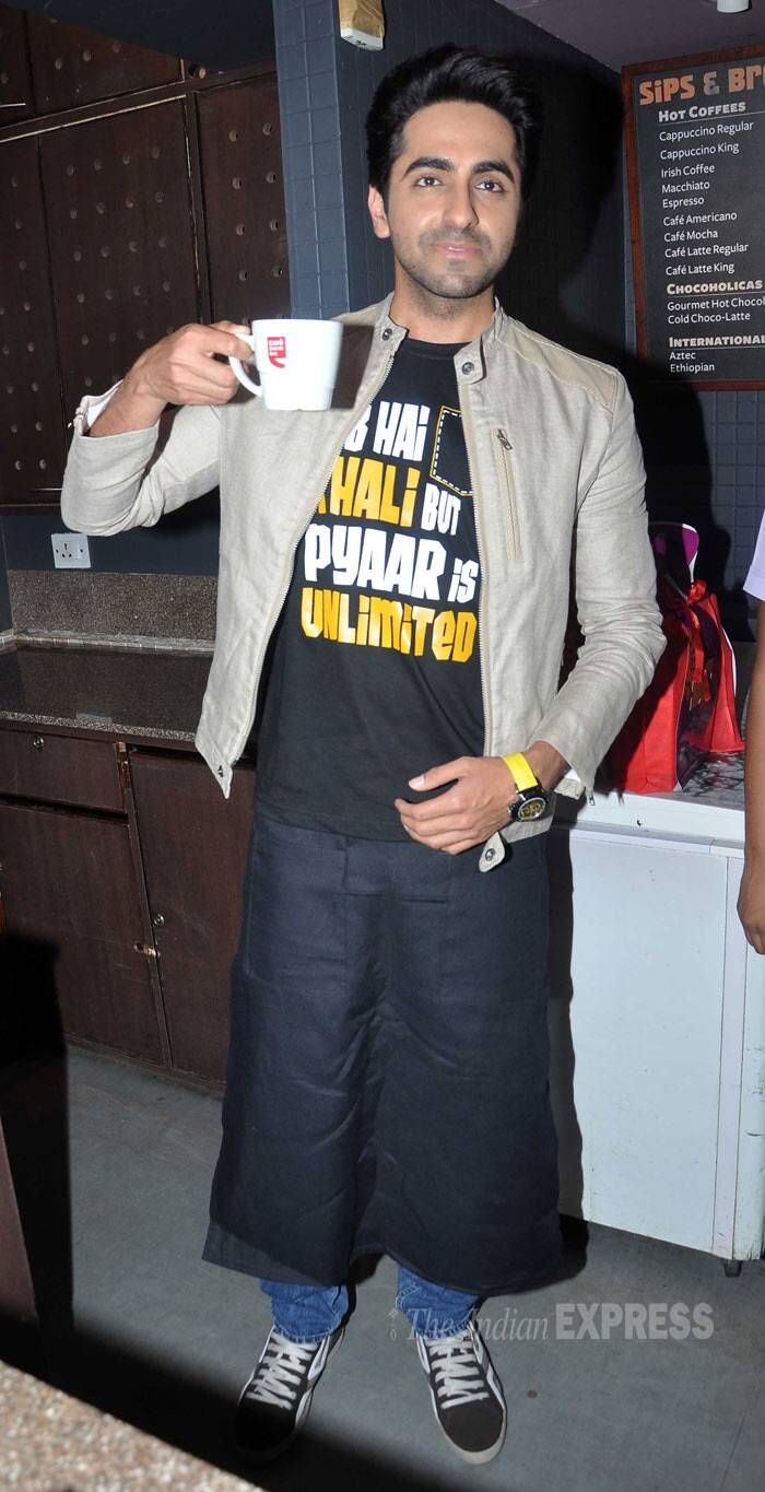 Ayushmann sure looks proud of his steaming cup. (Photo: Varinder Chawla)
