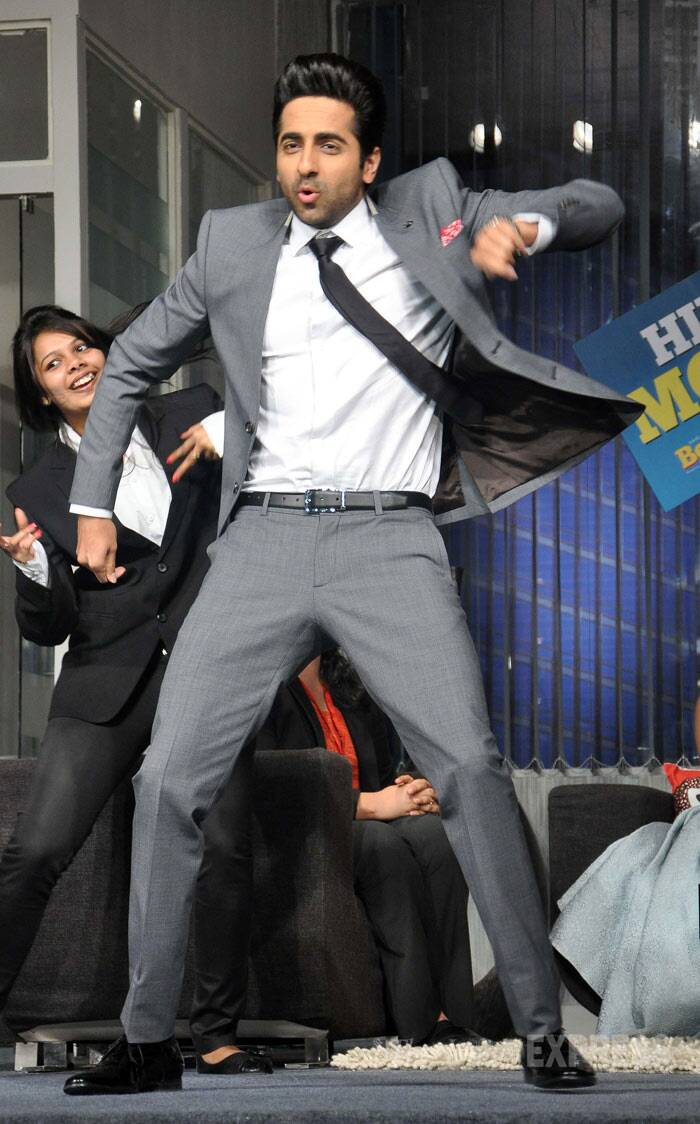 Ayushmann showed off his dance moves on stage at the event. (Photo: Varinder Chawla)