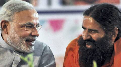 . Modi will join Ramdev's Yoga Mahotsav at Ramlila Maidan on Sunday. (Express archive)