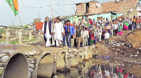 The 7 am outing: Pawan Kumar Bansal at Faidan village in Chandigarh. (Photo: Jasbir Malhi)
