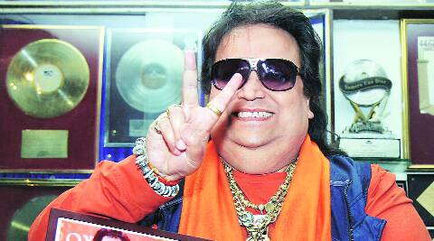 Bappi Lahiri at a press conference in Mumbai on Friday. (PTI)