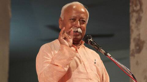 We are not in politics..We must work towards our own target: Mohan Bhagwat. (IE Photo: Javed Raja)