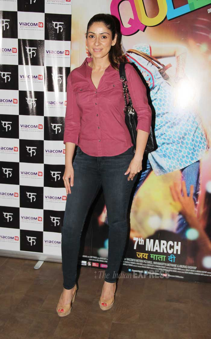 Actor Chunky Pandey's wife Bhavna was also present for the screening. (Photo: Varinder Chawla)