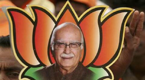 During his visit last month L K Advani was accompanied only by Harin Pathak, who is miffed by the party's decision to field an outsider, Paresh Rawal, from the constituency. (Reuters)