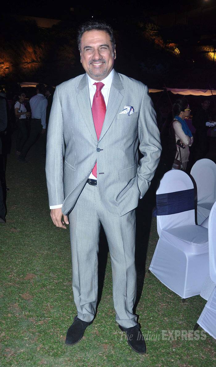 Boman Irani who will be seen in 'Happy New Year' was dapper. (Photo: Varinder Chawla)