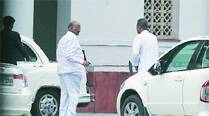Sharad Pawar and Praful Patel after the Cabinet meeting at Prime Minister's residence on Friday.	(Anil Sharma)