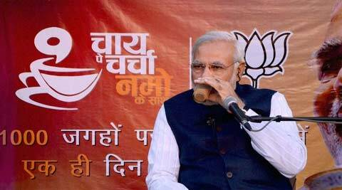 BJP proposes to organise the third phase of 'Chai pe charcha with NaMo' across the country on March 20 when its prime ministerial candidate Narendra Modi. (PTI)