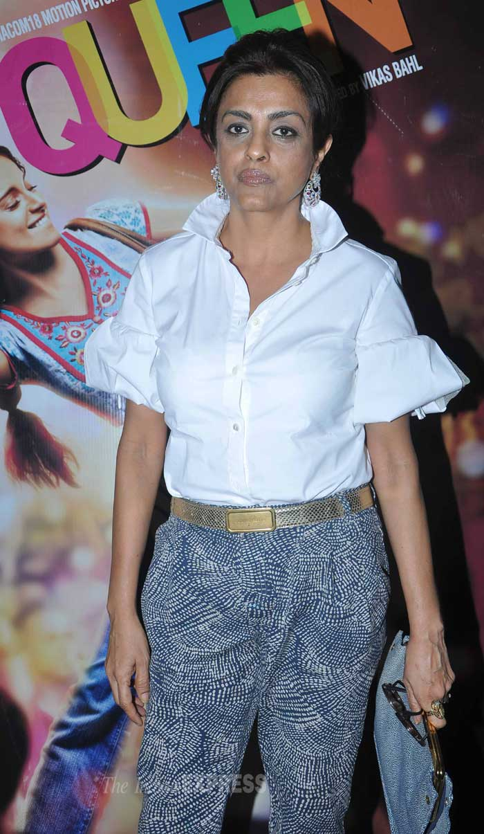 Lifestyle expert Chhaya Momaya wore a white shirt with printed pants. (Photo: Varinder Chawla)