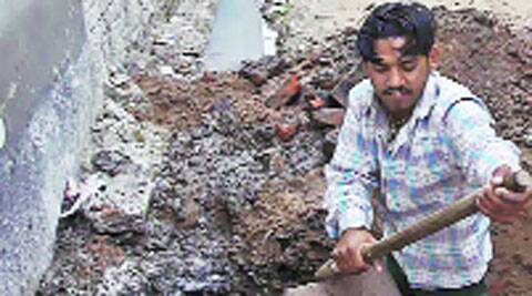 Water supply pipeline being repaired at Balongi. Express Archives