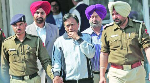 Police arrest R K Aggarwal on Saturday. Jaipal Singh