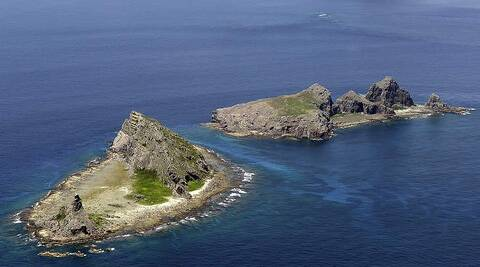 Two of the disputed islands, known as Diaoyu by the Chinese and as Senkaku by the Japanese. (AP)