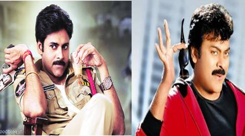 'Mega Star' Chiranjeevi and 'Power Star' Pawan Kalyan, who plans to launch a party.