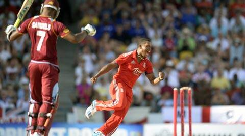 Before shining with the ball, Chris Jordan launched three offside sixes and one huge pull over midwicket off Dwayne Bravo's last over (Reuters)