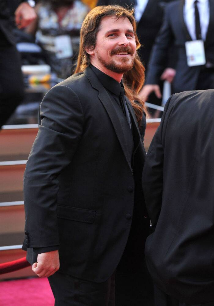 Best Actor nominee for 'AMerican Hustle', Christian  Bale was suave in Dolce & Gabbana. (AP)