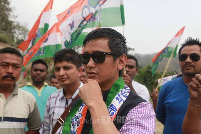 Baichung Bhutia has been fielded by Trinamool Congress from the high-strung Darjeeling seat, another soccer star of yesteryears Prasun Banerjee has been fielded by the party from Howrah, where he won in a by-election in 2013. (IE Photo: Subham Dutta)