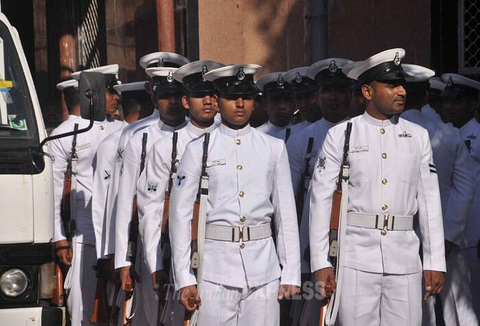 The body of Lieutenant Commander Manoranjan Kumar, the other officer who died on the ill-fated vessel, is likely to be taken to his native state Jharkhand tomorrow for cremation. (IE Photo)