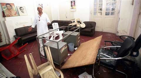 Suspected workers of the Bundelkhand Vikas Sena on Friday, ransacked the Congress office in Lucknow. (PTI)