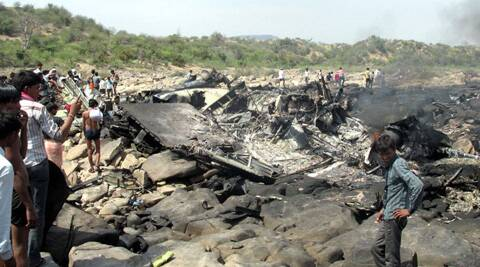 The Super Hercules C-130J crashed in Gwalior. (Indian Express)