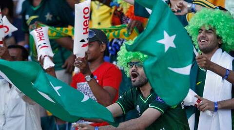 Fans cheer during the India-Pakistan match, picture for representation purpose. (Reuters)
