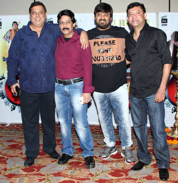 Comedy king David Dhawan poses with Ken Ghosh and others. (Photo: Varinder Chawla)