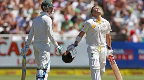 David Warner attacked the South African bowlers from the third over of the day (AP)