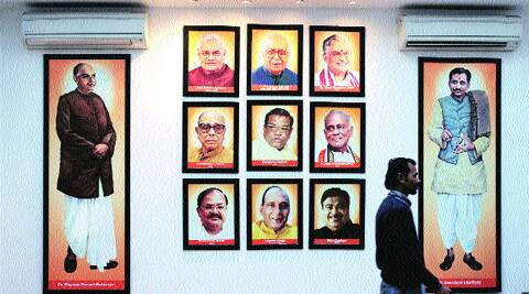 At the BJP office in Delhi. MLAs said any decision to bar them from Lok Sabha polls would face stiff opposition. Ravi Kanojia