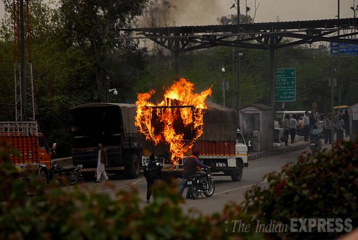Husain said after blocking NH-24, the Delhi Police also stopped people from going to the Jor Bagh Karbala. Police denied they resorted to lathi-charge. (IE Photo: Gajendra Yadav)