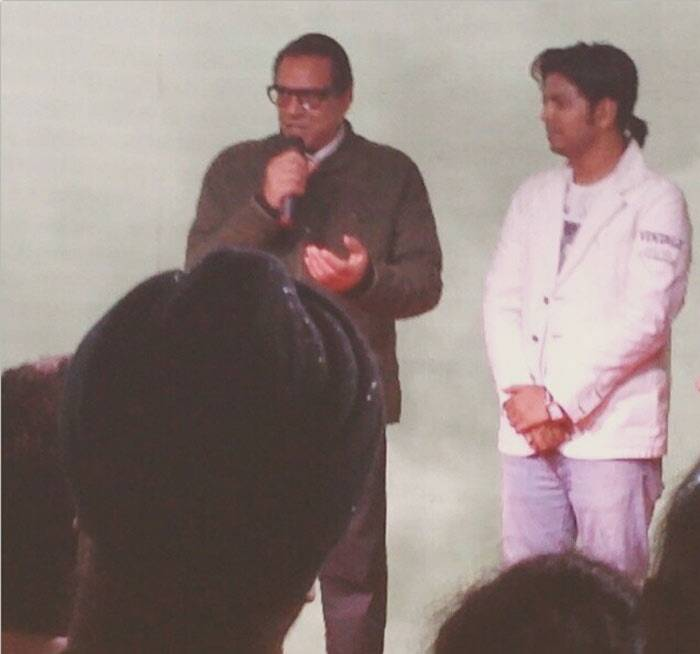 Veteran actor Dharmendra was also spotted at the launch. (Photo: Instagram)