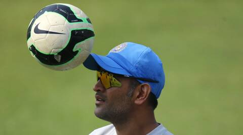 Football always kickstarts Indian team's practice session and it was more fun as the players enjoyed their time. (AP)