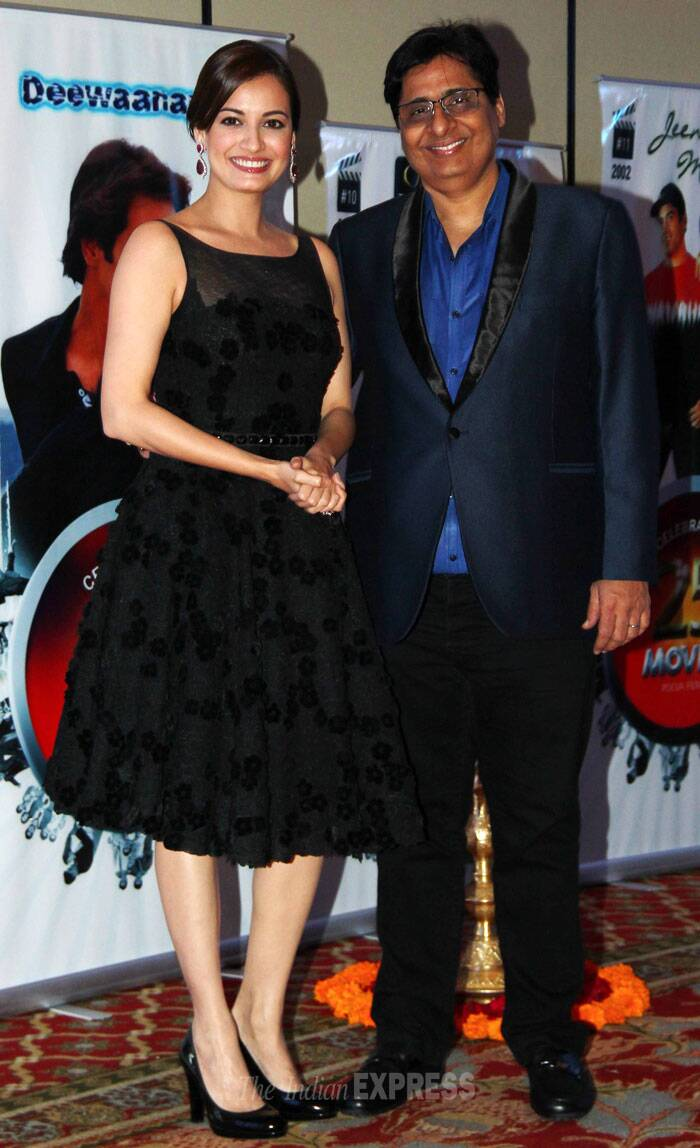 Dia Mirza is all dolled up, seen here with Vashu Bhagnani. (Photo: Varinder Chawla)