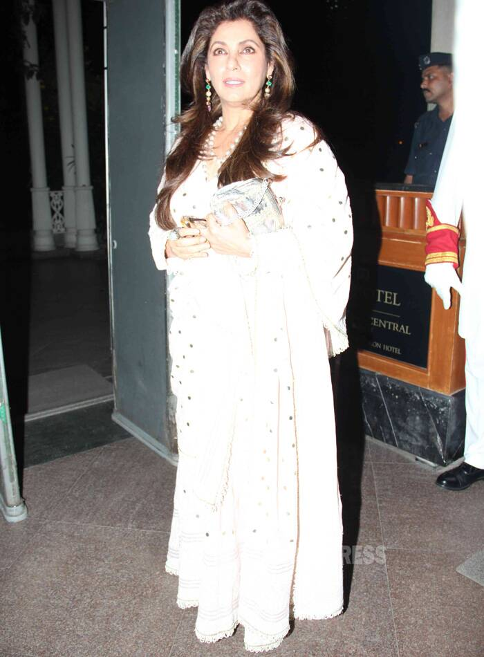 Veteran actress Dimple Kapadia was also spotted at the event. (Photo: Varinder Chawla)