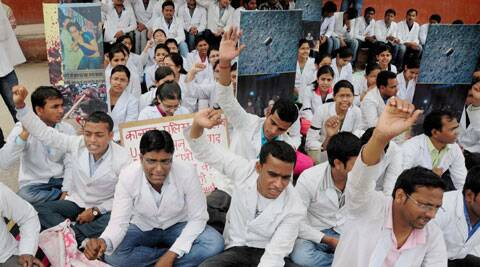 "The strike of the junior doctors is on...We have requested them to provide services in emergency section"", KGMU,  Medical Superintendent Dr SN Shankhwar said. ( Photo, AP)"