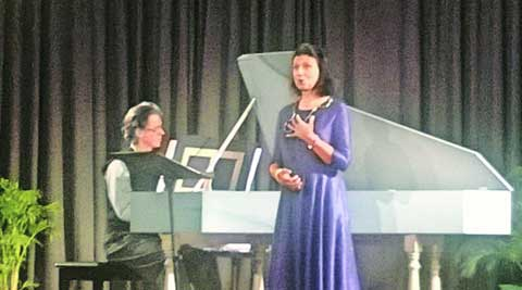 Dominique Moaty (right) performing with Justin McCarthy