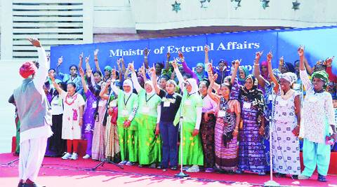 Women were taught about the importance of the election process and their votes, and told that each vote is important for the development of the state. (PTI)
