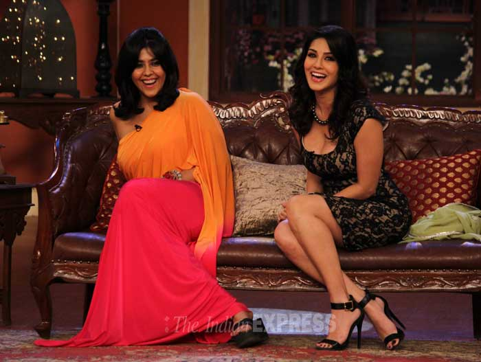 The girls seemed to be having a blast on the hit comedy show. (Photo: Varinder Chawla)