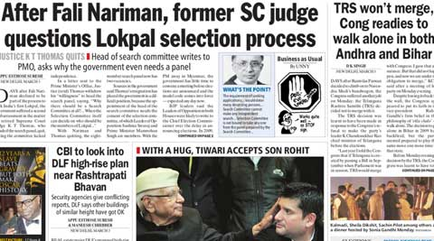Former SC judge questions Lokpal selection process and other Indian Express stories you must read.