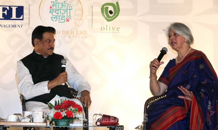 At the Express Adda, Prithviraj Chavan said the Mumbai Metro has disputes due to cost overruns and conceded that the contract wasn't written properly.  (IE Photo: Prashant Nadkar)
