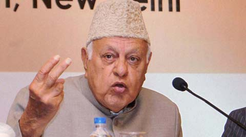 National Conference chief Farooq Abdullah.